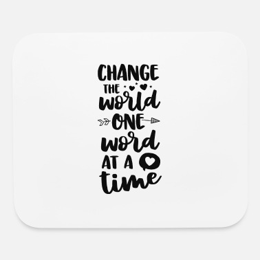 Change The World One Word At A Time SLP Speech - Mouse Pad