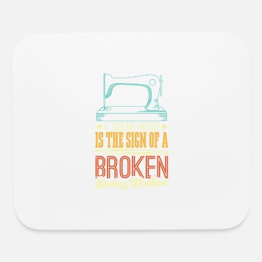 Broken Ok Sign For Broken Sewing Machine - Mouse Pad