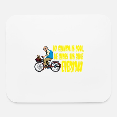 Bmx Grandfather My Grandfather is a cool cicyler & biker / gift - Mouse Pad