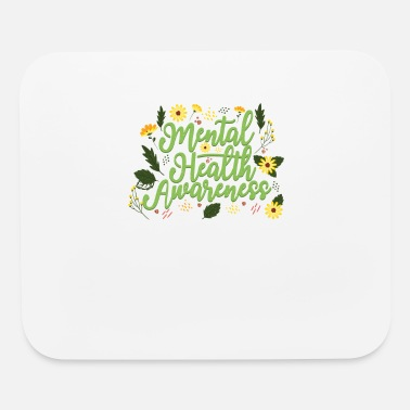 Self Mental Health Awareness Month Retro Positive Quote - Mouse Pad
