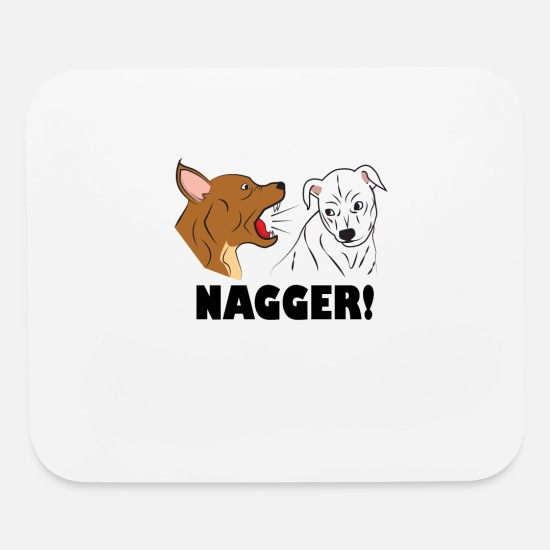 Friendship Mouse Pads - dog friendship dogs relationship nagger present - Mouse Pad white