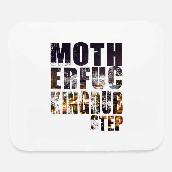 Drugs Mouse Pads - MFing Dubstep - HD Design - Mouse Pad white
