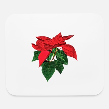 Poinsettia Three Christmas Poinsettias - Mouse Pad