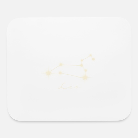 Horoscope Mouse Pads - Star sign Leo - Mouse Pad white