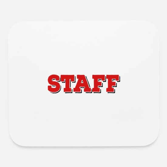 Man Mouse Pads - Staff - Mouse Pad white