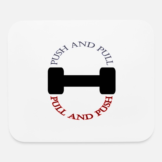 Strong Mouse Pads - PULL&PUSH - Mouse Pad white
