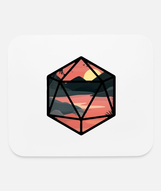 LARP Mouse Pads - Sunset D20 - Mouse Pad white