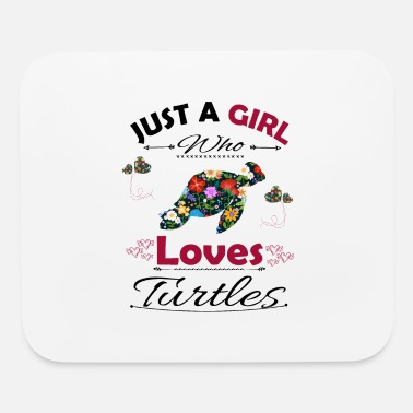 Ok Just A Girl Who Loves Turtles - Mouse Pad