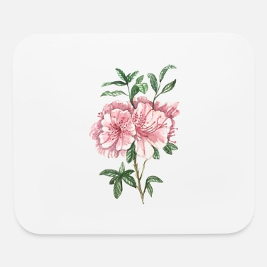Modernist Beautiful Pink Flower - Mouse Pad