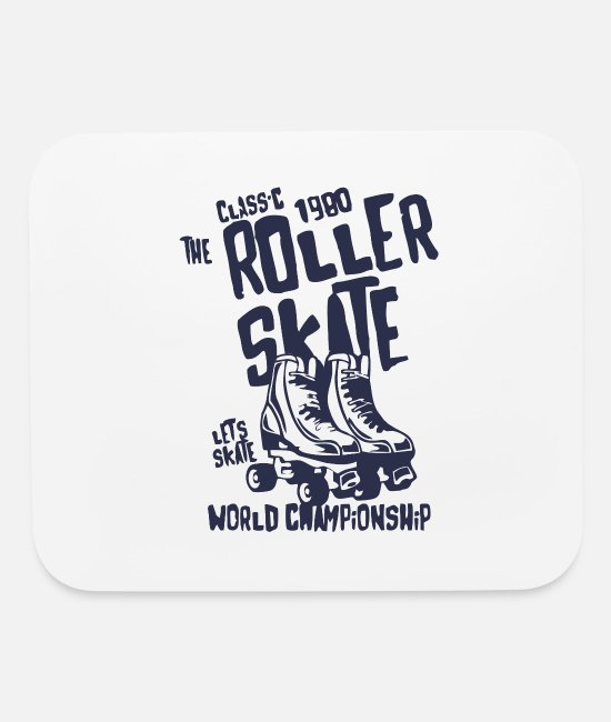 Skate World Mouse Pads - Classic Roller Skate World Championship - Mouse Pad white