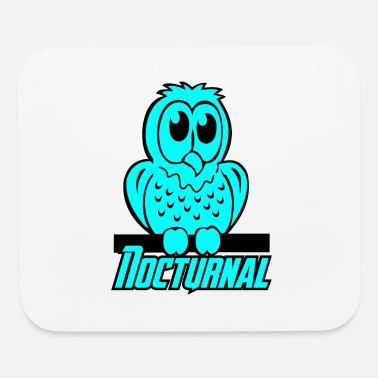 Nocturnal Bird owl nocturnal bird - Mouse Pad