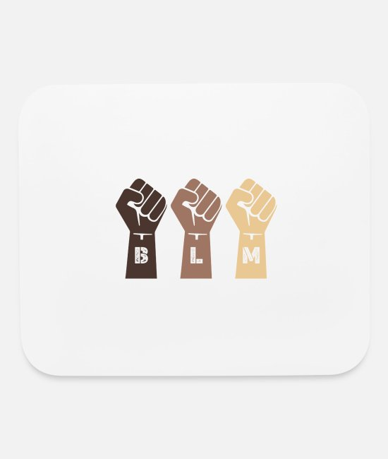 Black Metal Mouse Pads - Blm Black Lives Matter Shirt Black Lives Matter Sh - Mouse Pad white