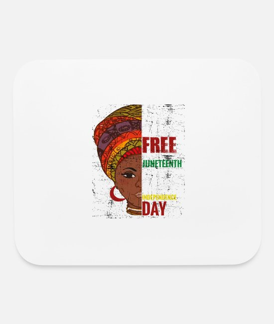 Black Metal Mouse Pads - Juneteenth T ShirtJuneteenth June 19 1865 Black Hi - Mouse Pad white