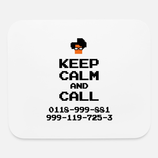 Crowd Mouse Pads - IT Crowd Moss emergency KEEP CALM - Mouse Pad white