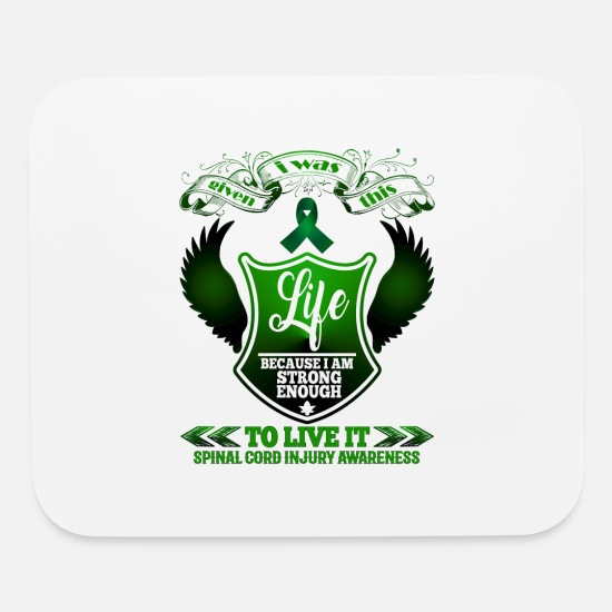 Cord Mouse Pads - Spinal Cord Injury Awareness - Mouse Pad white