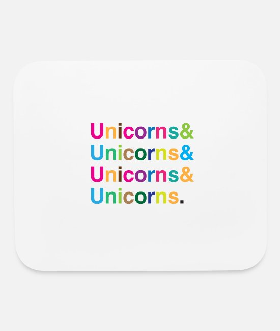 Riding Mouse Pads - unicorns & unicorns & unicorns & unicorns RAINBOW - Mouse Pad white