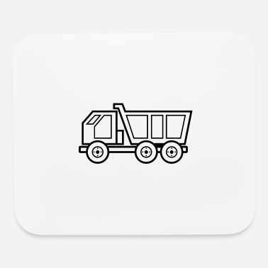 Doddle Dump truck silhouette drawing gift idea doddle - Mouse Pad