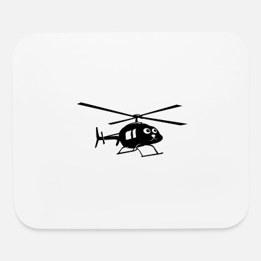 Cute Helicopter Helicopter with face - Mouse Pad