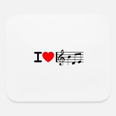 Music i love music black - Mouse Pad