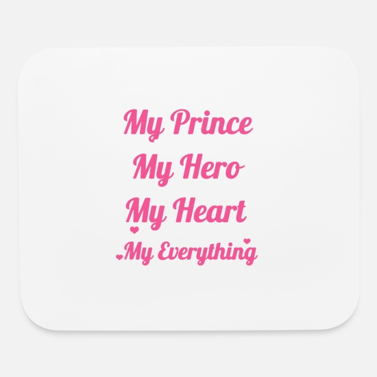 HUSBAND TEES Mouse Pads - I LOVE MY HUSBAND SHIRT - Mouse Pad white