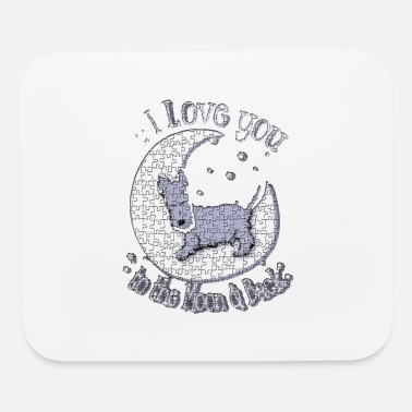 Love i love you to the moon back - Mouse Pad