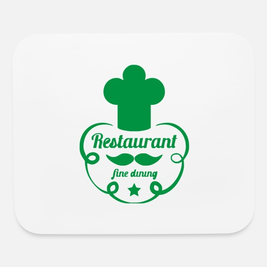 Hatch Mouse Pads - hat restaurant clerk - Mouse Pad white