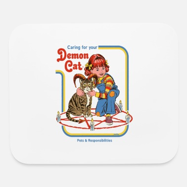 Smiffys caring for your demon cat - Mouse Pad