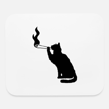 Weed Joint weed smoking weed smoking hemp cannabis cat - Mouse Pad