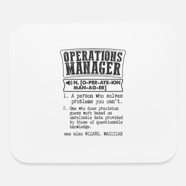 Operations Manager Operations Manager Definition Gift Mug - Mouse Pad