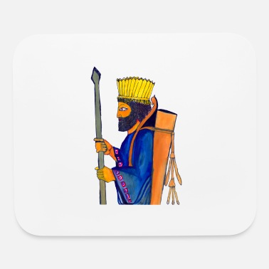 A Persian Guard watercolor painting - Mouse Pad