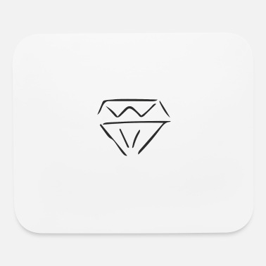 Line Drawing diamond - line drawing - Mouse Pad
