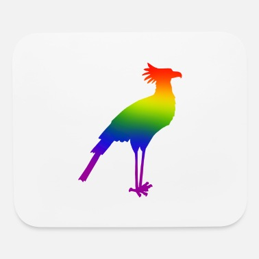 Hallucination Secretary bird (rainbow colours 2) - Mouse Pad