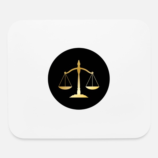 Paragraph Mouse Pads - rechtsanwalt anwalt lawyer judge richter law justi - Mouse Pad white