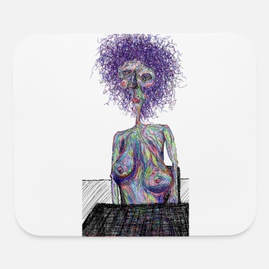 Naked Sitting naked - Mouse Pad