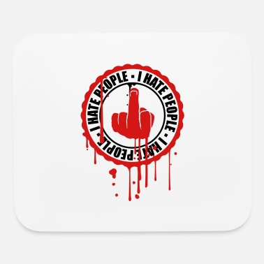 Circle graffiti spray drop sticker stickers fuck you midd - Mouse Pad
