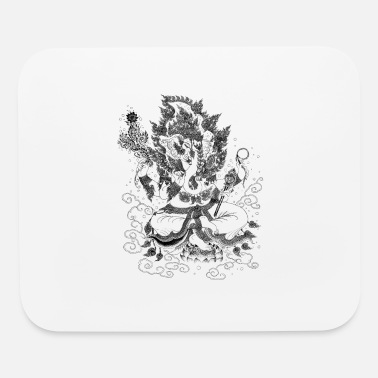Line Drawing Ganesha Line Drawing - Mouse Pad