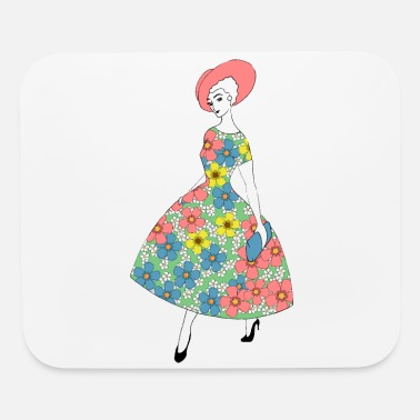 Parisienne - Summer dress with flowers - Mouse Pad