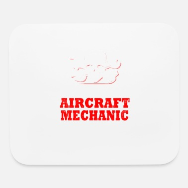 Aviation Retired Aircraft Mechanic T-Shirt - Mouse Pad