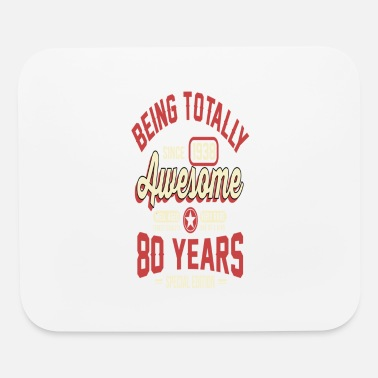 80s Sayings Geek 80 Years Of Being Awesome - Mouse Pad