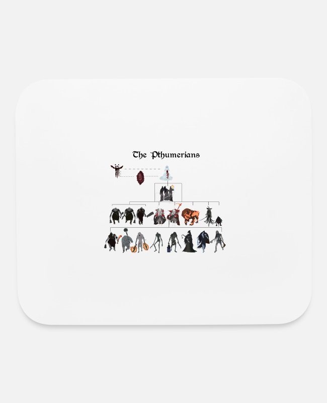 Raider Mouse Pads - Bloodborne - The Pthumerians - Mouse Pad white