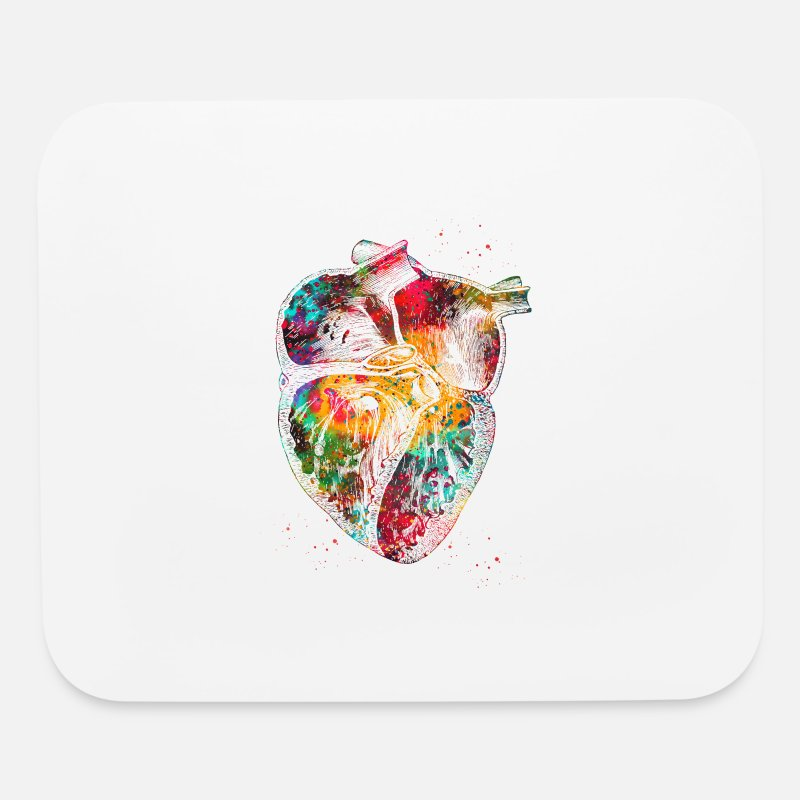 Heart Section Watercolor Print The Human Heart P Mouse Pad