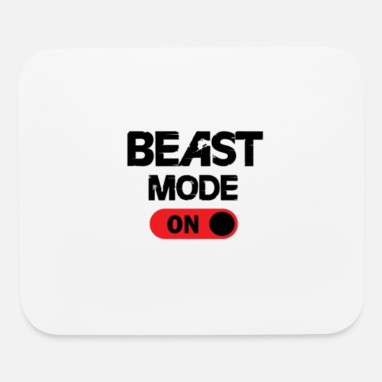 Beast Mouse Pads - THE BEAST ON - Mouse Pad white