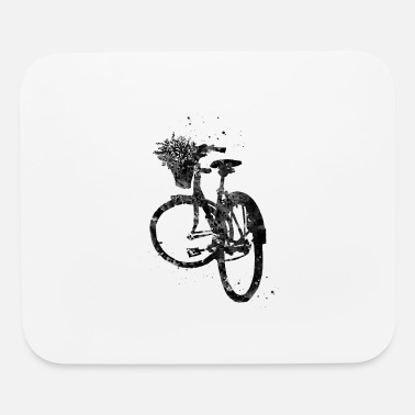 Basket Bicycle with Flower in Basket - Mouse Pad