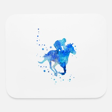 Horse Racing Horse racing, watercolor horse racing - Mouse Pad