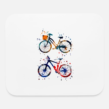Bicycle Bicycles, watercolor bicycles - Mouse Pad