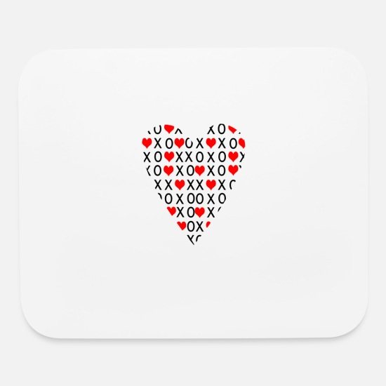 Love Mouse Pads - heart2 - Mouse Pad white