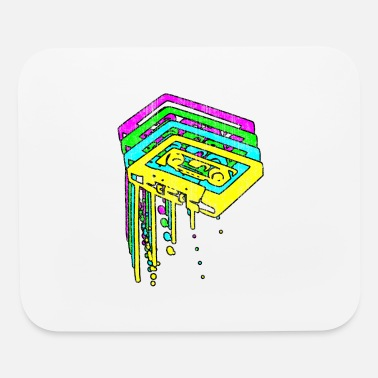 Cassette Neon Grunge - Mouse Pad