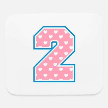 Two 2 - Two - Number two - Mouse Pad