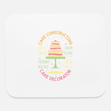 Cream Filled Cake Decorator Constructing Cakes - Desserts Baker - Mouse Pad