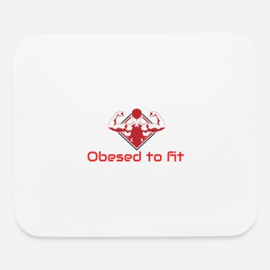 Obesity Obesed to fit logo - Mouse Pad